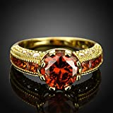 Sumanee Color Fashion Best Quality Jewelry Rose Gold Yellow Gold Plated Ring Zircon (8)