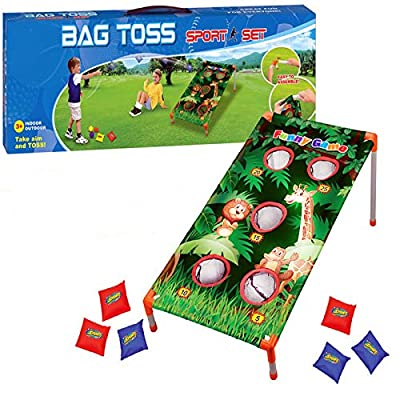 Adorox Bean Bag Toss Game Set Animal Zoo Jungle Theme Parties: Toys & Games