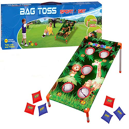 Adorox Bean Bag Toss Game Set Animal Zoo Jungle Theme Parties (Bean Toss Animal Bag)