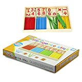 Hot Sale! Canserin Kids Child Wooden Numbers Mathematics Toys Early Learning Counting Educational Toys