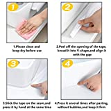 KOMIWOO 2 Pack Bathtub Caulk Strip PE Waterproof