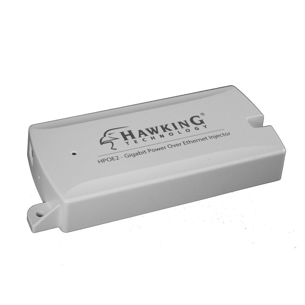 Hawking Technology Gigabit Power-Over-Ethernet (PoE) Injector Kit Max 54V/0.6A (HPOE2)