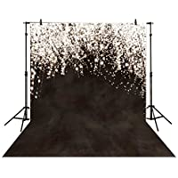 Funnytree 5x7ft Photography Backdrop wedding Photography Backdrop black dim star Highlights background props photocall photobooth Photo studio