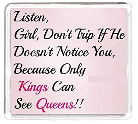 Girl Women Trip Love Relationship Queen King Fridge Magnet Quotes