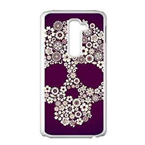 Flowers Skull Hot Seller Stylish High Quality Protective Case Cover For LG G2