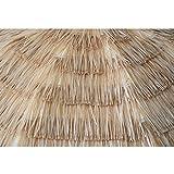 Caymus 7ft Hula Thatched Tiki Umbrella Hawaiian Style Beach Patio Umbrella Natural Color 8 ribs,set of 2