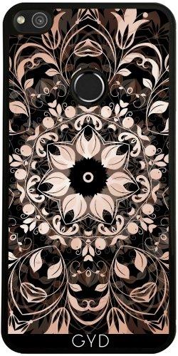 Funda de silicona para Huawei P8 Lite 2017 - El Cobre Negro Mandala Floral by Nina Baydur