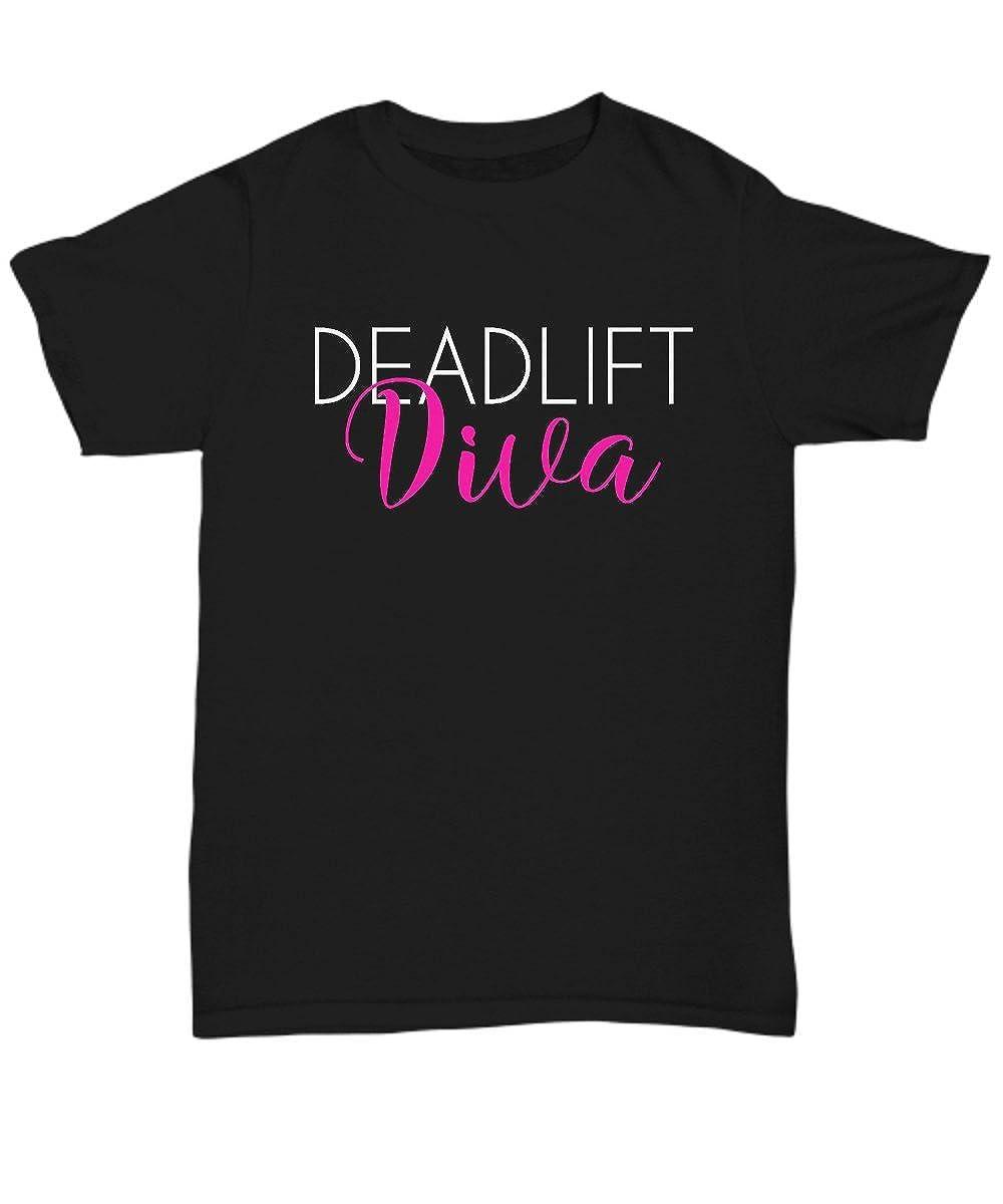 Amazon.com: Deadlift Diva T-Shirt Gift Funny Saying Novelty ...