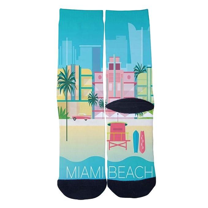 Amazon.com: Calcetines personalizados MIAMI BEACH para ...
