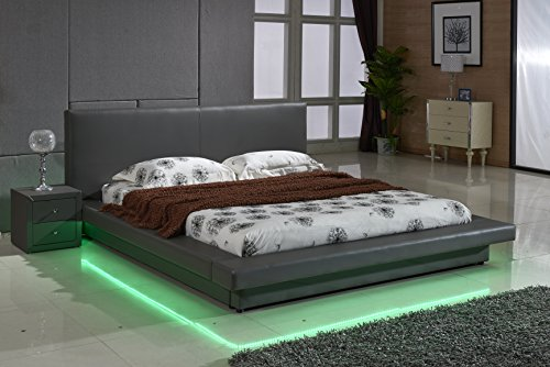 Modern Bed With Led Lights