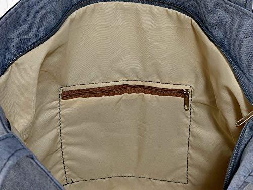 Ideapiu 4 Ecopelle et sac en tissu avec imprimé chat, poche intérieure zippée