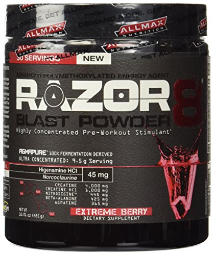 Dmaa Pre Workout >> Allmax Nutrition New 2014 Razor8 Pre Workout Dmaa Free 30 Servings