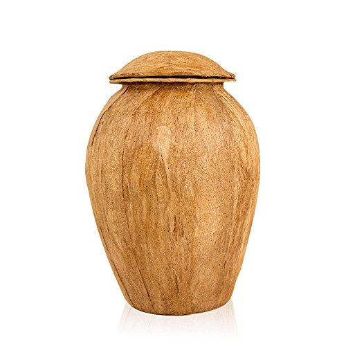 Perfect Memorials Woodgrain Handmade Large Grecian Biodegradable Cremation Urn ()