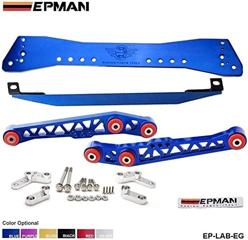 Sub-Frame Lower Tie Bar /& Lower Control Combo For Civic Eg Red Subframe for Honda Civic