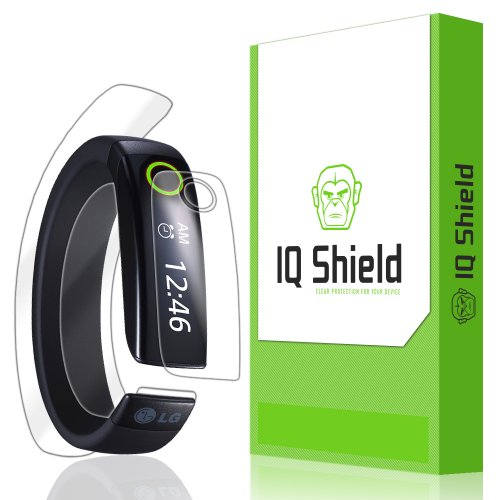 IQ Shield LiQuidSkin - LG Lifeband Screen Protector + Full Body (Front and Back) - High Definition (HD) Ultra Clear Smart Film - Premium Protective Screen Guard - Extremely Smooth / Self-Healing / Bubble-Free Shield - Kit comes with Retail Packaging and 100% Lifetime Replacement Warranty (Size: Medium)