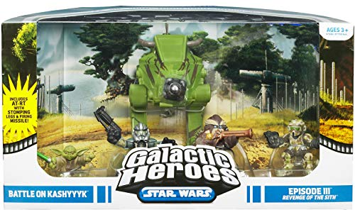 (Star Wars Galactic Heroes Deluxe Cinema Scene Mini Figure Multi Pack Battle on Kashyyyk)