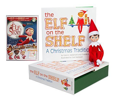 The Elf on the Shelf Christmas Tradition with North Pole Blue Eyed Boy Elf with DVD (Boy Elf On The Shelf)