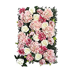 Backgrounds Xiaolin Artificial Rose Silk Flower Wall Panels Hanging Ornaments Home Wedding Venue Floral DIY Art Decorations 40