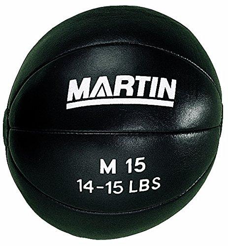 Martin Sports Genuine Leather Medicine Ball, 15 Lb. by Martin Sports