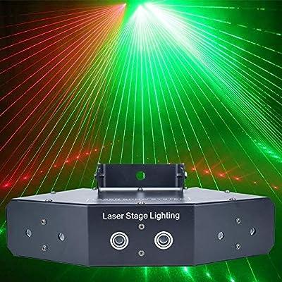 DWLXSH Proyector de música Luces de DJ, Control Remoto Sonido ...