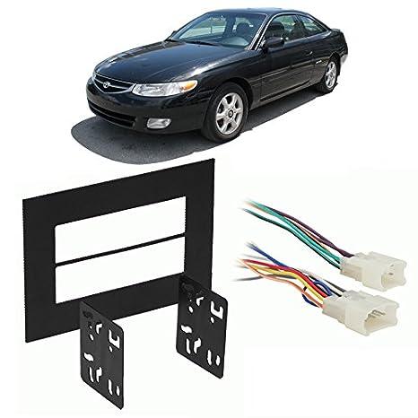 amazon com: fits toyota solara 1999-2003 double din stereo harness radio  install dash kit: car electronics