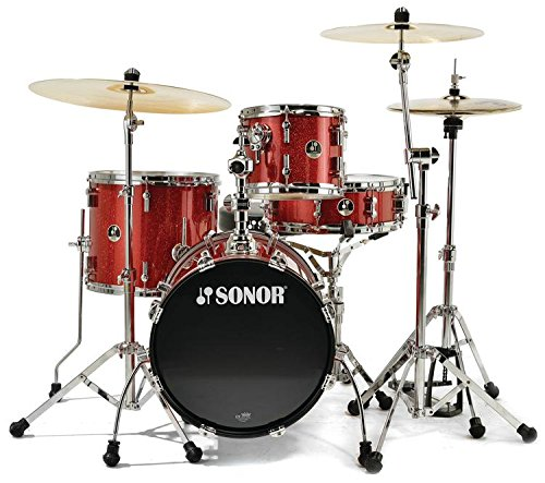 Sonor SSE 12 SAFARI C1 RGS 4-Piece Safari Drum Set Shell Pack in Red Galaxy (Sonor Sets Cymbals)