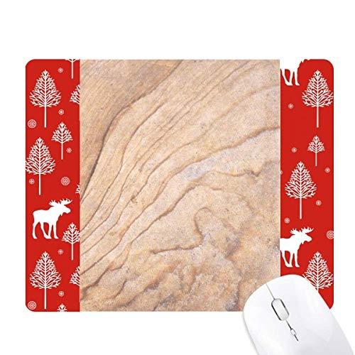 Mosaic Stone Texture Elegant Wavy Pattern Christmas Woods Forest Deer Elk Mouse Pad