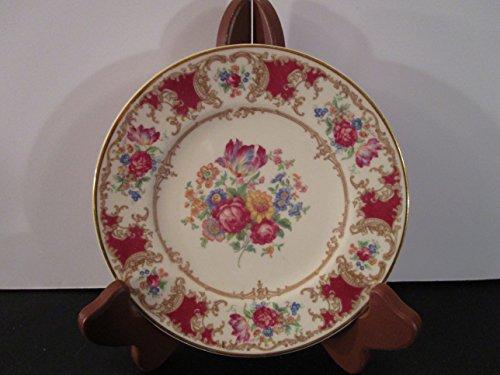 - Old Ivory Syracuse China Romance Maroon Salad Plate