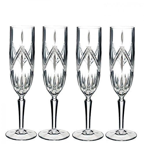 Marquis By Waterford 40032083 Lacey Flute Set of 4, 8 ounce, Clear ()