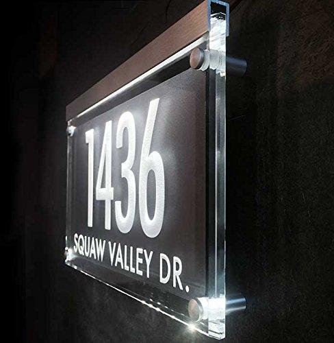 The Personalized Address Numbers Shine brilliantly! Crystal Illuminated Address Plaque