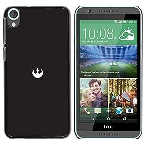 Caucho caso de Shell duro de la cubierta de accesorios de protección BY RAYDREAMMM - HTC Desire 820 - Alianza Rebelde Mínimo