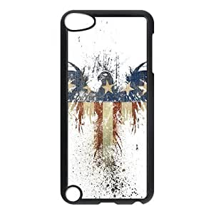 Abstract American Eagle Ipod Touch 5 Cases, Bloomingbluerose - Black