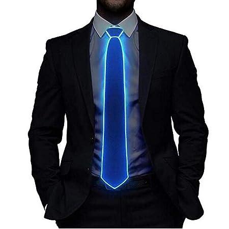 LED Light Up Tie, Azul Rojo Verde Luminoso Corbata Ajustable EL ...