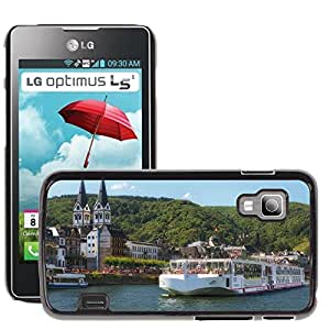 Hot Style Cell Phone PC Hard Case Cover // M00170309 Rhine Valley Germany Ship River // LG Optimus L5 II Dual E455 / E460