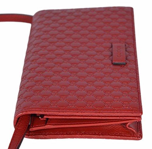 e8730c17a1769 Gucci Women s Leather Micro GG Guccissima Crossbody Mini Wallet Purse Bag ( Red)  Amazon.co.uk  Shoes   Bags