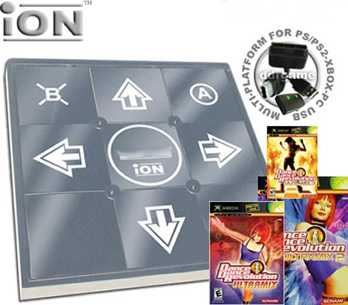DDR iON Metal Dance Pad with Ultramix XBox Game Series
