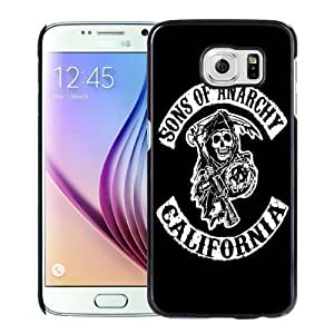 NEW Unique Custom Designed Samsung Galaxy S6 Phone Case With Sons Of Anarchy California TV Series_Black Phone Case Kimberly Kurzendoerfer