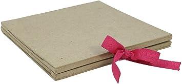 Cadre album Un support D/écopatch en papier mach/é brun 1x16x16 cm D/écopatch CD013O