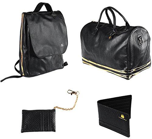 Black Patent Leather Duffle Bag - 1
