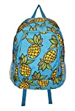 Novelty Print Medium Sized Backpack - 16 in tall (Pineapple)