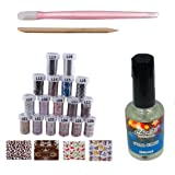 BTArtbox New 2014 Designs Good Quality 17 Different Designs Fashion Type Nail Art Foil Transfer Roll with Adhesive DIY Kit