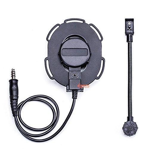 Zeadio - Auricular de Diadema con micrófono de Brazo Giratorio y Heavy Duty PTT para 2 Pin Motorola Walkie Talkie Radio de Dos Vías: Amazon.es: Electrónica
