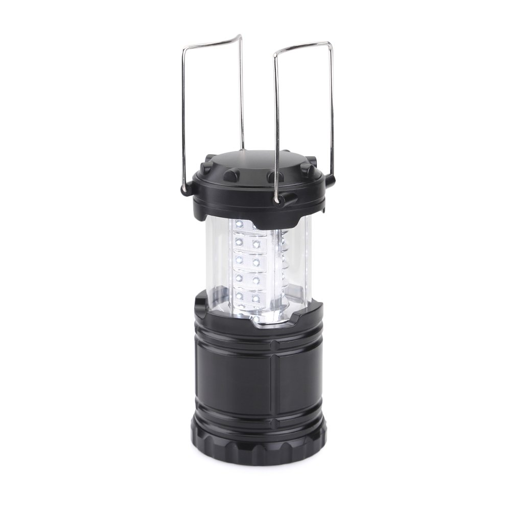 AGM Collapsible Water Resistant Ultra Bright Outdoor 30 LEDs 150LM Camping Lantern black