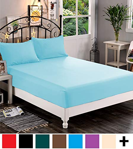 Elegant Comfort Bedding Fitted Sheet Deep Pocket up to 16inch, Wrinkle and Fade Resistant