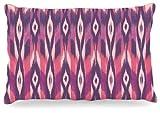 Kess InHouse Amanda Lane ''Purple Ikat'' Pink Lavender Dog Bed, 30 by 40-Inch