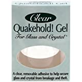 Quakehold! 22111 Gel for Glass and Crystal, Clear
