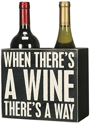 Primitives by Kathy Two-Sided Two-Bottle Wine Box Box Sign (Distressed Wine Box compare prices)
