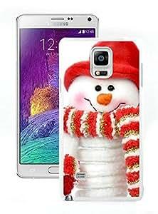 Diy Yourself Galaxy note 4 case cover, Samsung Galaxy note 4 case covers,Christmas snowman Samsung Galaxy note 4 case cover White O5L0eaxGEmr Cover