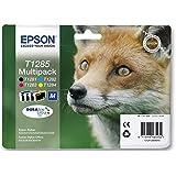 Epson T1285Multipack Cartouches d'encre Fox Noir, cyan, magenta et jaune
