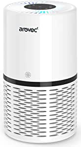 Arovec™ Smart True HEPA Air Purifier, Air Quality Sensor and indicator, 4-layer Filtration System, Air Cleaner, Allergens, Asthma, Smoke, Odours, Pet Smell, Pollen, Mould, Dust and Germs Eliminator, For Large Room & Bedroom, Sleep Mode, Timer, Auto Mode, AV-P152PRO